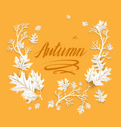 autumn image with leaves vector image vector image