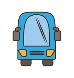bus vehicule land transport travel vector image