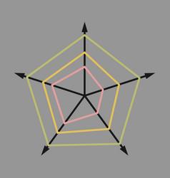 flat icon on stylish background thin chart vector image