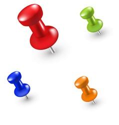 Pins vector image vector image