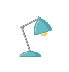 Table lamp icon in flat style vector image