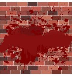 bricks full of blood vector image vector image