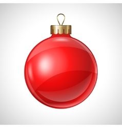 Christmas red ball isolated on white for design vector image