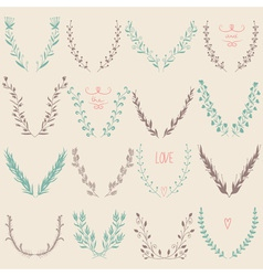 Floral Graphic Design Elements Collection vector image