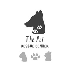 logo templates for pet food vector image