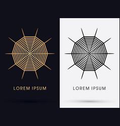 spiderweb logo vector image