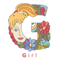 G Girl vector image vector image