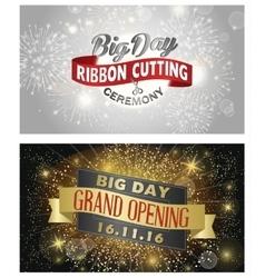 Grand opening banner design vector