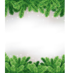 traditional green christmas decorations background vector image vector image