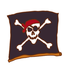 A flag of pirate vector