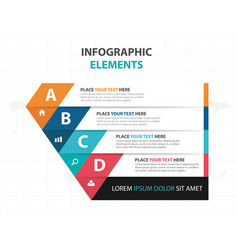 Abstract colorful triangle business infographics vector