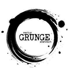 abstract grunge circle shapes vector image