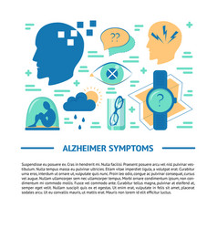 Alzheimer s disease banner template in flat style vector