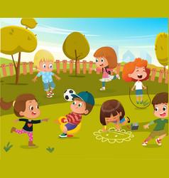 Baby play kindergarten playground vector