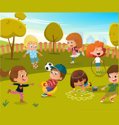 baplay kindergarten playground vector image
