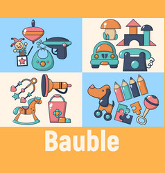 bauble concept banner cartoon style vector image