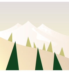Beautiful Mountains in retro style - retro vector image