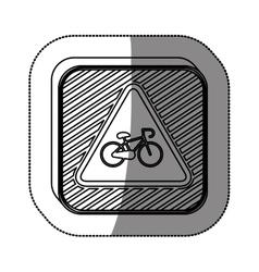 Bike symbol roadsign vector