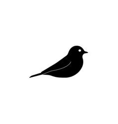 bird icon black on white vector image