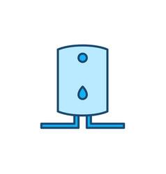 Boiler concept blue modern icon or sign vector