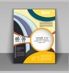 brochure design business vector image
