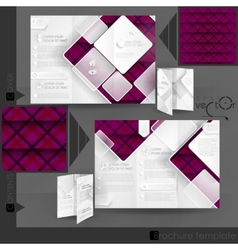Business Brochure Template Design vector image