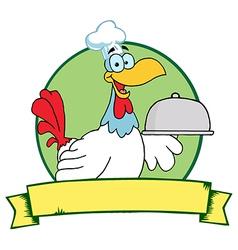 Chicken chef cartoon vector