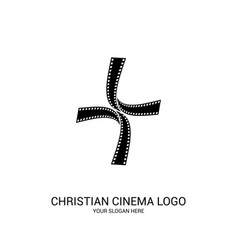 Christian cinema logo vector