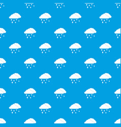 Clouds and hail pattern seamless blue vector