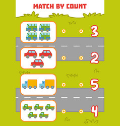 counting game for preschool children count cars vector image