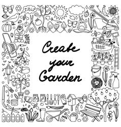 create your garden frame vector image