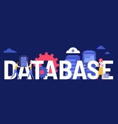 Database creative concept vector