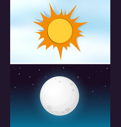 day and night sky vector image