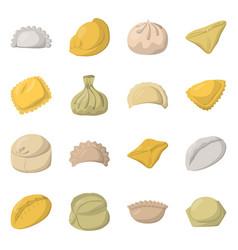 Design dumplings and food symbol vector