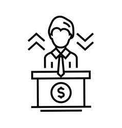 director work line icon concept sign outline vector image
