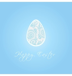 Easter egg with zentangle vector image