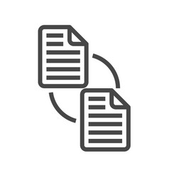 File exchange thin line icon vector