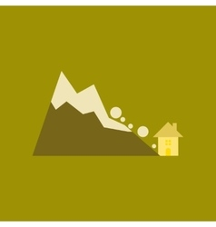 Flat icon on stylish background House avalanche vector