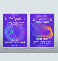 flyer electronic music festival sound event dj vector image