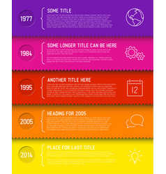 fresh infographic timeline report template vector image