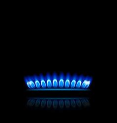 gas in dark vector image