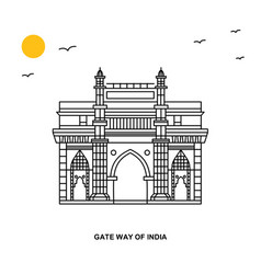 Gate way of india monument world travel natural vector