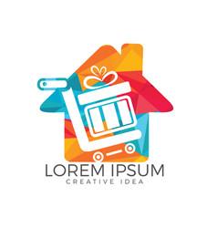 gift house logo design element vector image