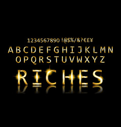 gold font with additional currency vector image