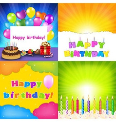 Happy Birthday Card Set vector image