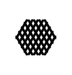 hexagon silhouette vector image