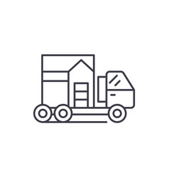 house transportation line icon concept house vector image