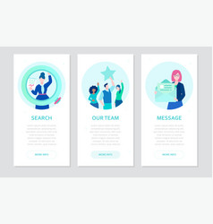 human resource - set of flat design style banners vector image