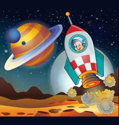 Image with space theme 3 vector