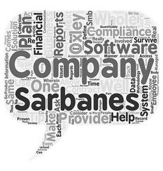 Is Your Business Compliant With Sarbanes Oxley vector image